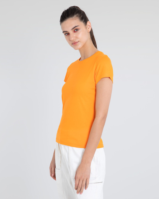 Shop Neon Orange Half Sleeve T-Shirt-Back