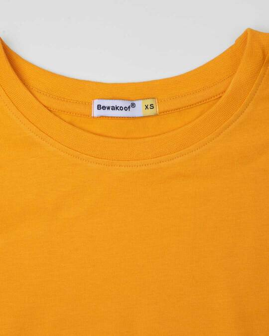 Shop Neon Orange Half Sleeve T-Shirt