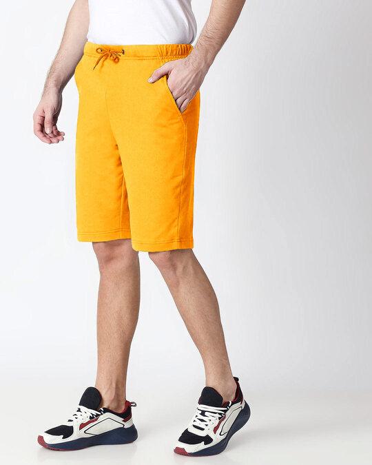 Shop Neon Orange Men's Casual Shorts-Back
