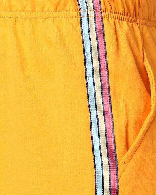 Shop Neon Orange Men's Side Panel Shorts