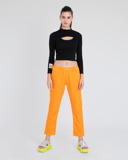 Shop Neon Orange Pyjama-Full