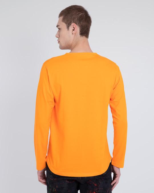 Shop Neon Orange V-Neck Henley T-Shirt-Design