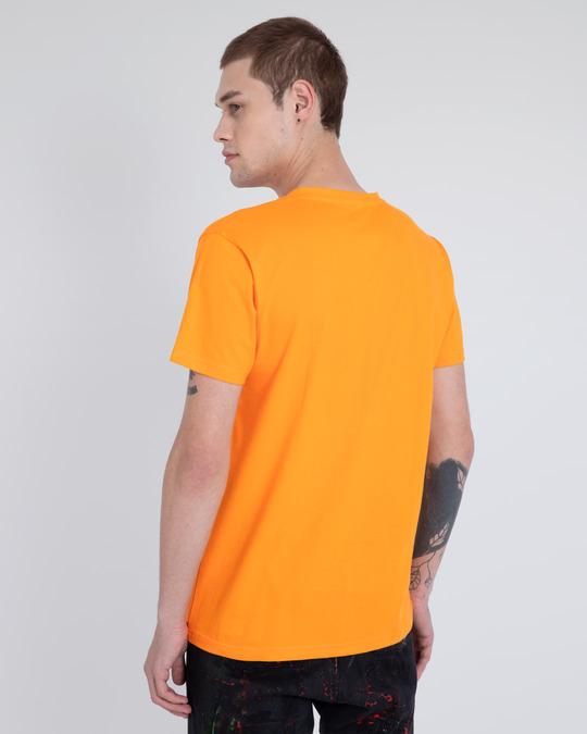 Shop Neon Orange V-Neck T-Shirt-Design