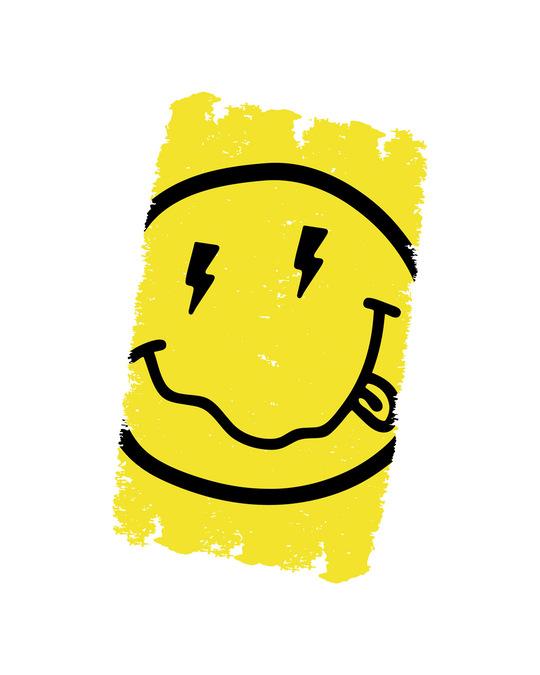 Shop Neon Smiley Half Sleeve T-Shirt-Full