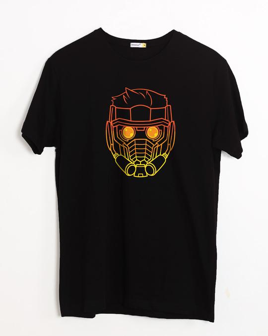 Shop Neon Star Lord Half Sleeve T-Shirt (GOTGL)-Front