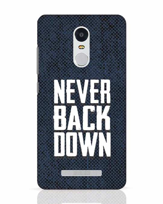 Shop Never Back Down Xiaomi Redmi Note 3 Mobile Cover-Front