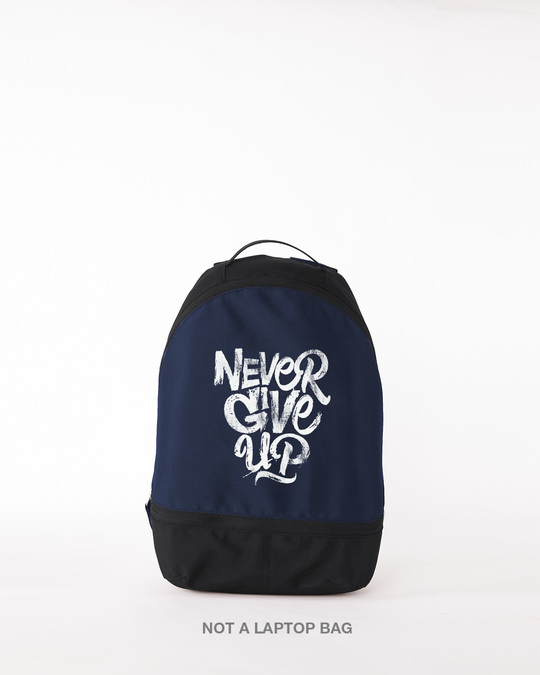 Shop Never Give Up Small Backpack-Front