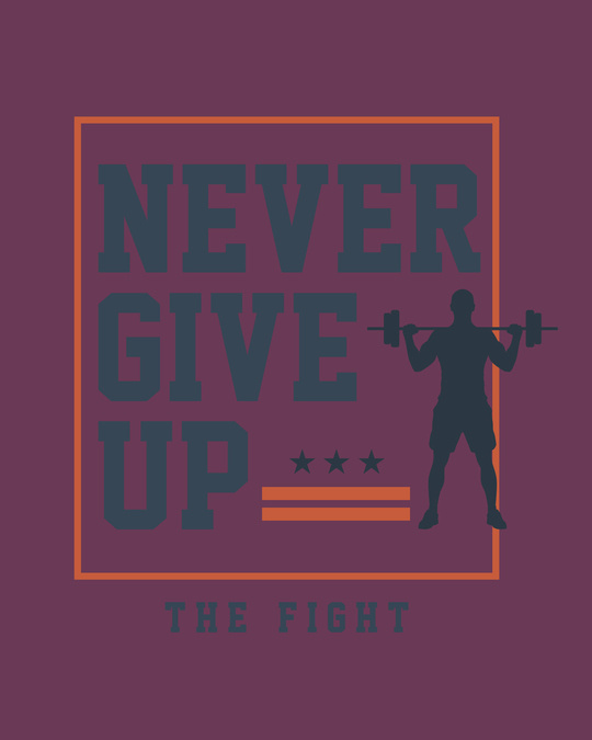 Shop Never Give Up! Full Sleeve T-Shirt