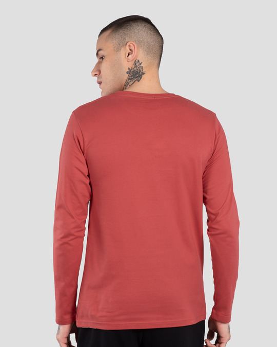 Shop Never Give Up! Full Sleeve T-Shirt-Back