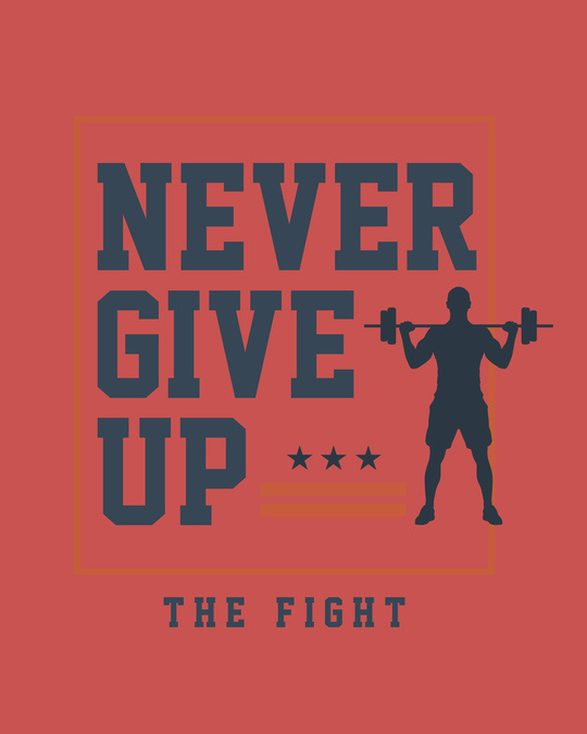 Shop Never Give Up! Full Sleeve T-Shirt-Full