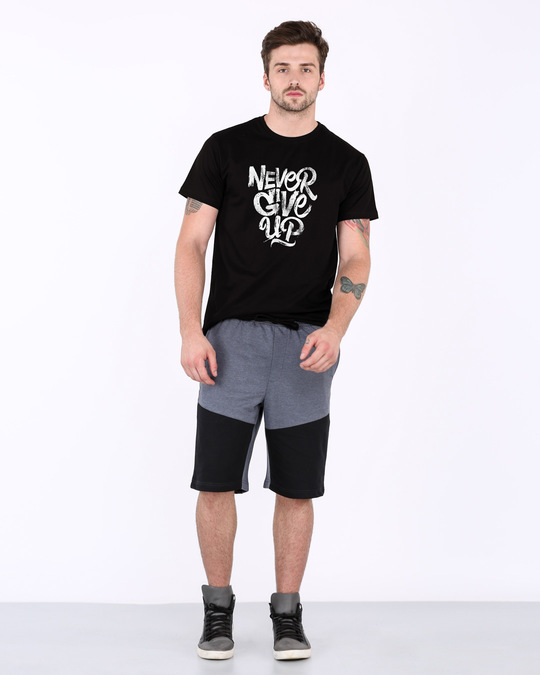 Shop Never Give Up Half Sleeve T-Shirt