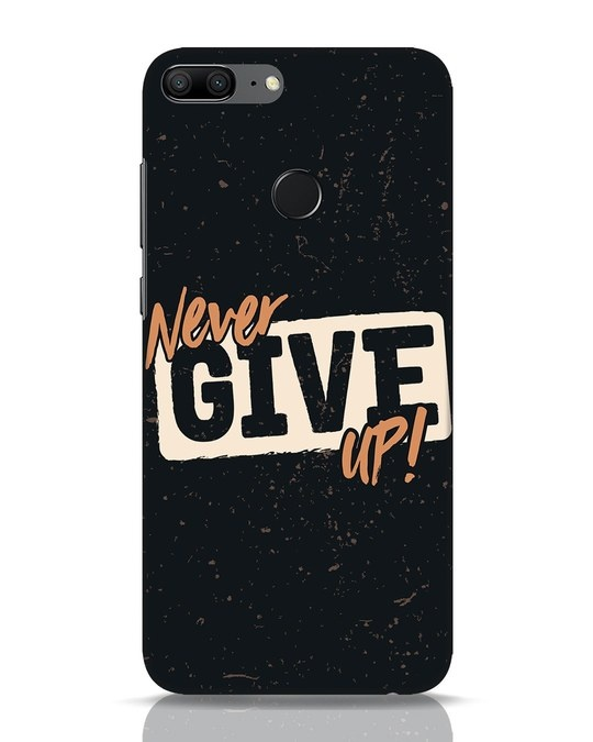 Shop Never Give Up Huawei Honor 9 Lite Mobile Cover-Front