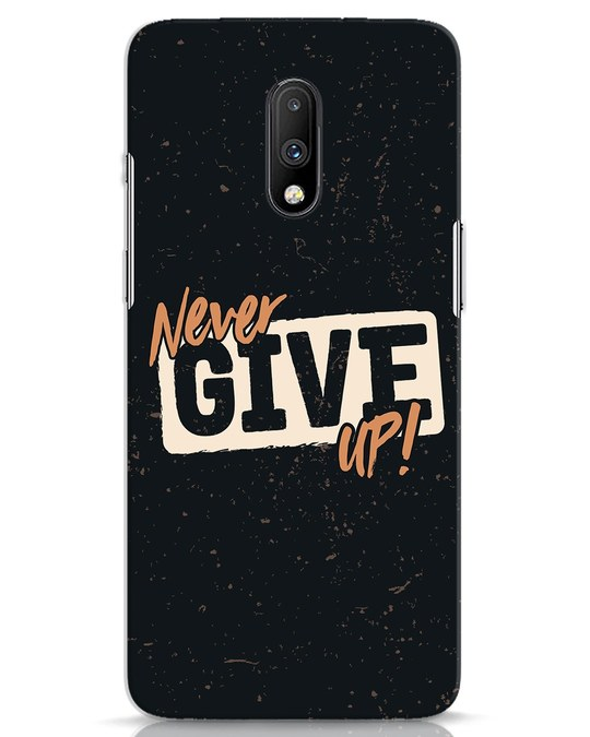 Shop Never Give Up OnePlus 7 Mobile Cover-Front