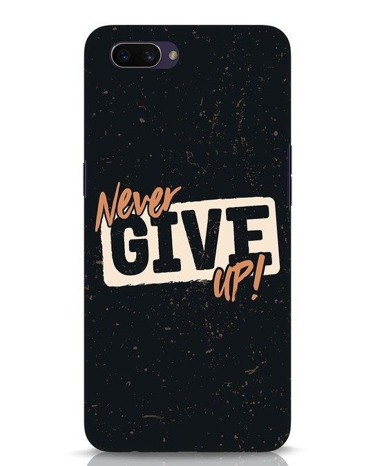 Shop Never Give Up Oppo A3S Mobile Cover-Front