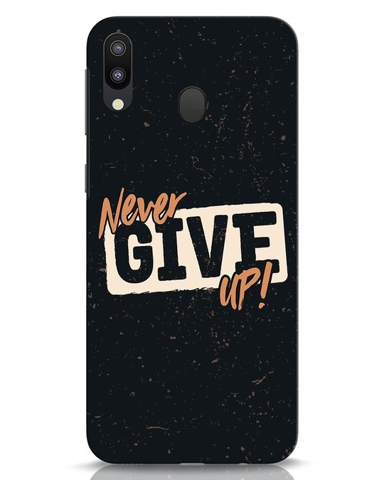 Shop Never Give Up Samsung Galaxy M20 Mobile Cover-Front