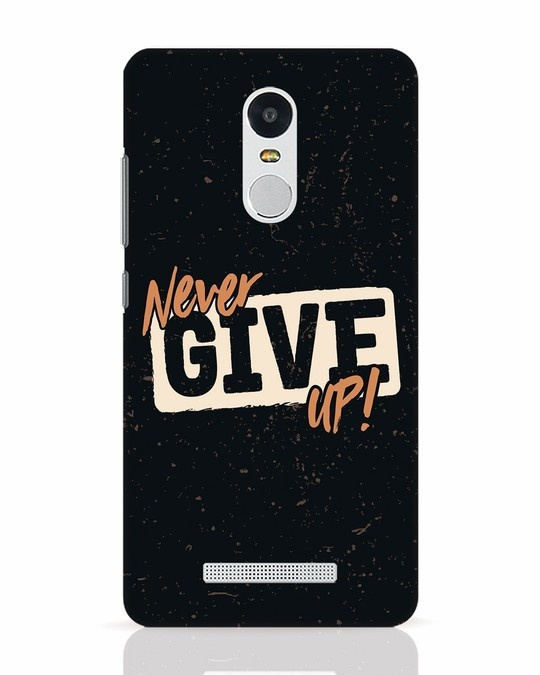 Shop Never Give Up Xiaomi Redmi Note 3 Mobile Cover-Front