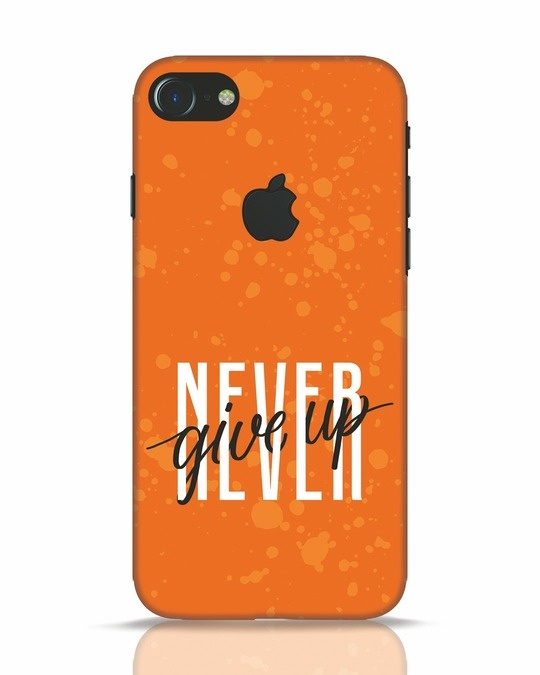 Shop Never iPhone 7 Logo Cut Mobile Cover-Front