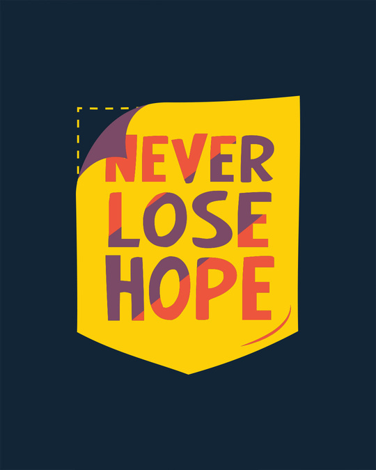 Shop Never Lose Hope Pocket Full Sleeve T-Shirt