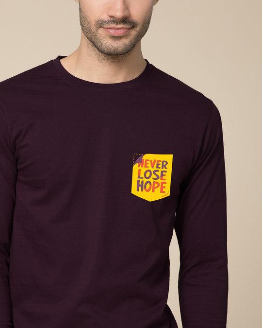 Shop Never Lose Hope Pocket Full Sleeve T-Shirt-Front