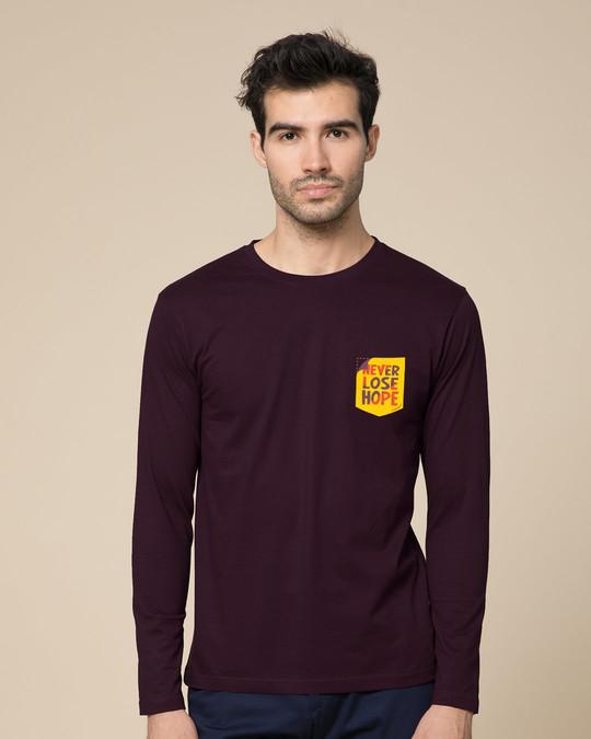 Shop Never Lose Hope Pocket Full Sleeve T-Shirt-Back