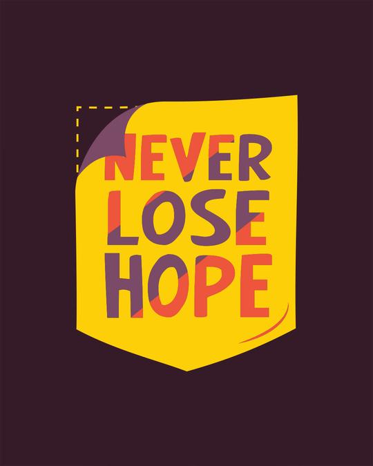 Shop Never Lose Hope Pocket Full Sleeve T-Shirt