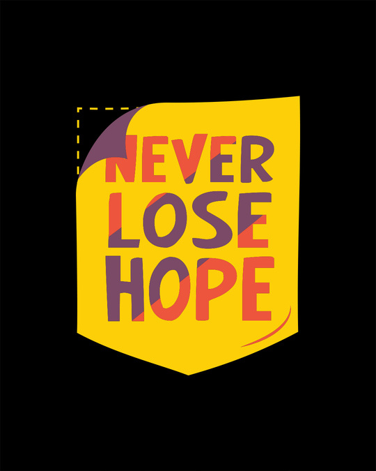 Shop Never Lose Hope Pocket Half Sleeve T-Shirt