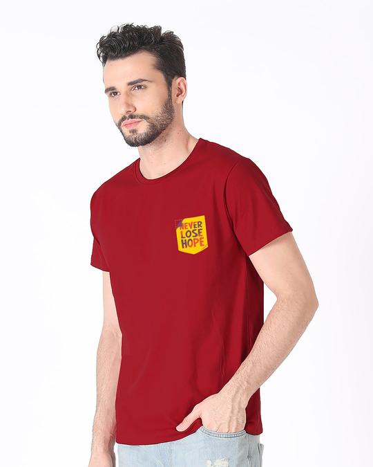 Shop Never Lose Hope Pocket Half Sleeve T-Shirt-Full