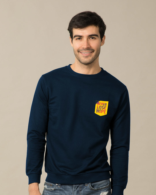 Shop Never Lose Hope Pocket  Sweatshirt-Back