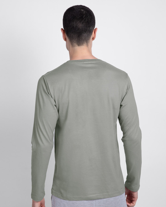 Shop Never Mind Stripe Full Sleeve T-Shirt Meteor Grey-Design