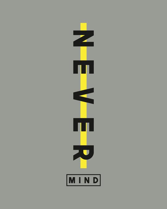 Shop Never Mind Stripe Half Sleeve T-Shirt Meteor Grey