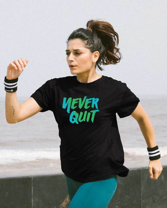 Shop Never Quit Boyfriend T-Shirt-Front