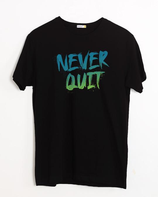 Shop Never Quit Gradient Half Sleeve T-Shirt-Front