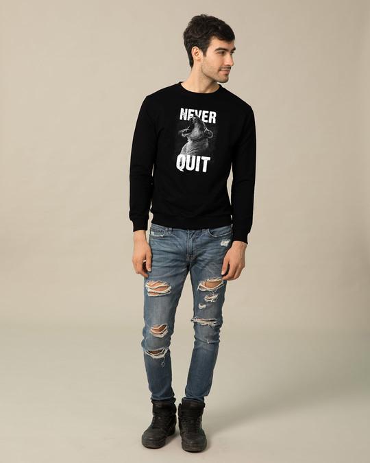 Shop Never Quit Lion Fleece Light Sweatshirt-Design