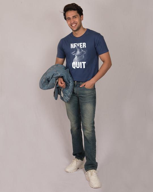Shop Never Quit Lion Half Sleeve T-Shirt-Full