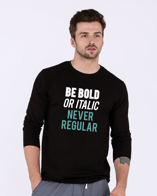 Shop Never Regular Full Sleeve T-Shirt-Front