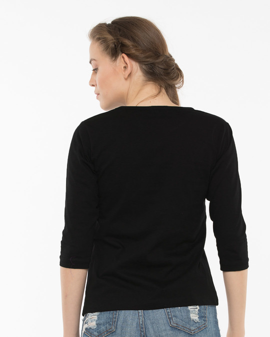 Shop Never Round Neck 3/4th Sleeve T-Shirt-Full