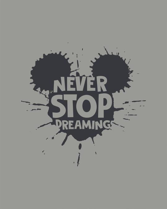 Shop Never Stop Dreaming Mickey Boyfriend T-Shirt (DL)
