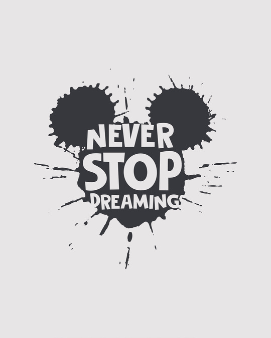 Shop Never Stop Dreaming Mickey Boyfriend T-Shirt (DL)