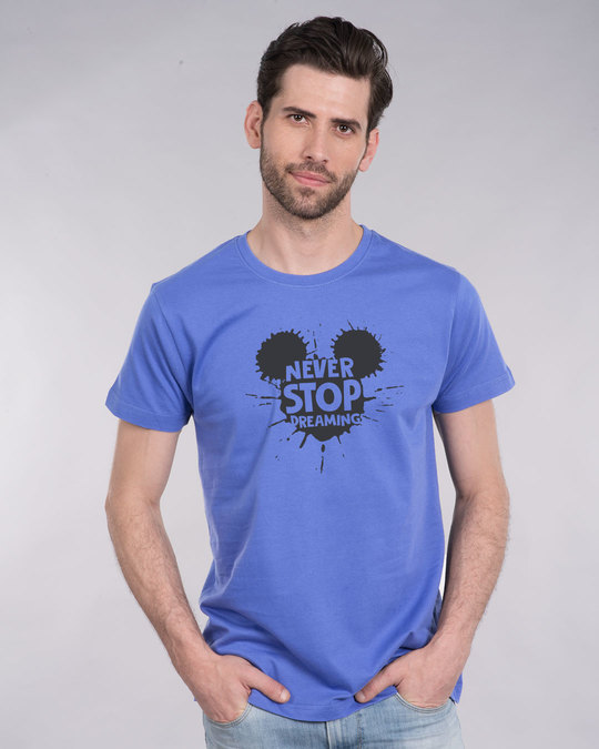 Shop Never Stop Dreaming Mickey Half Sleeve T-Shirt (DL)-Back