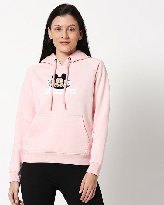 Shop Never Too Old For Mickey Melange Hoodie Sweatshirt-Front