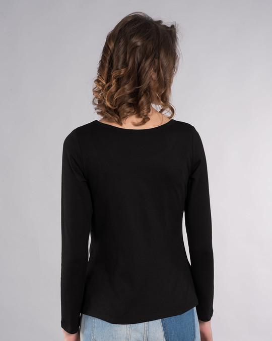 Shop Never Underestimate Me Scoop Neck Full Sleeve T-Shirt-Back