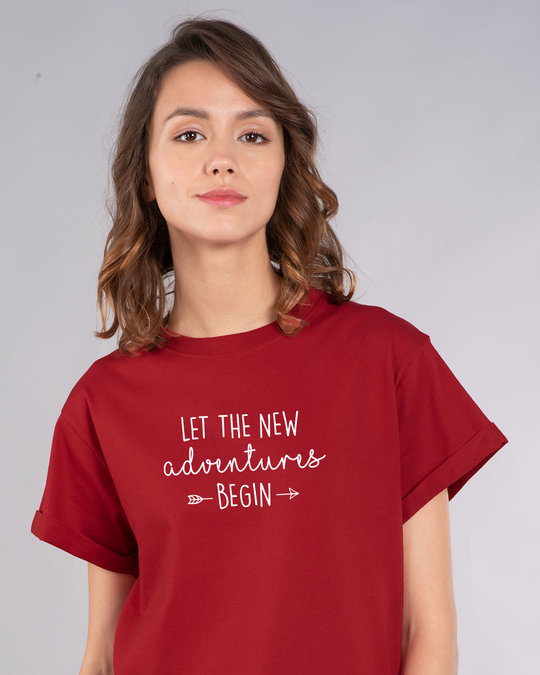 Shop New Adventures Boyfriend T-Shirt-Front
