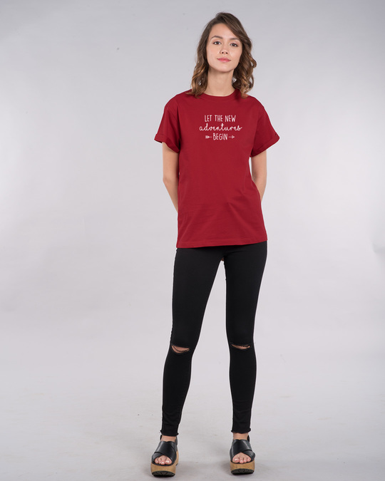 Shop New Adventures Boyfriend T-Shirt-Full