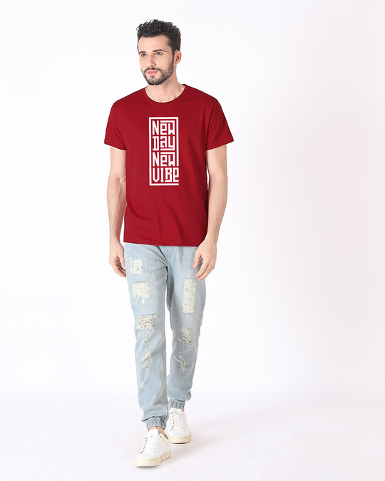 Shop New Day New Vibe Half Sleeve T-Shirt-Full