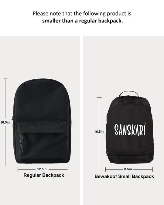 Shop New Sanskari Printed Small Backpack-Back