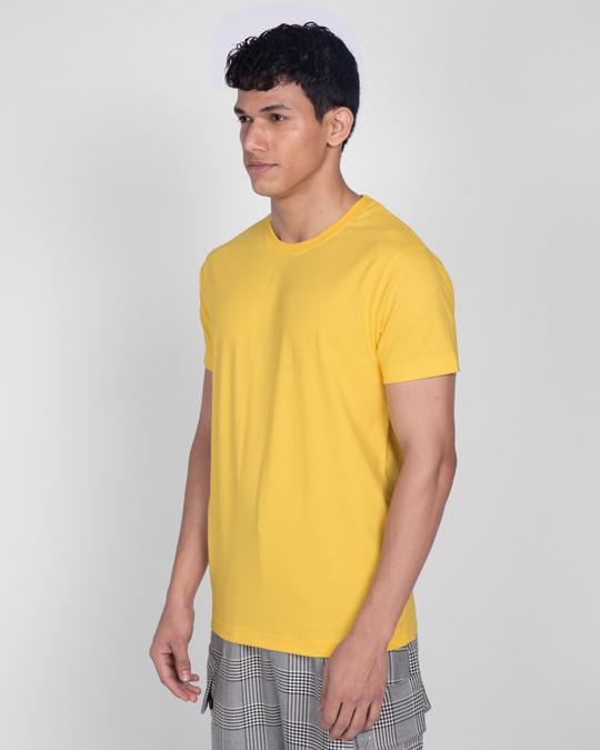 Shop Happy Yellow Half Sleeve T-Shirt-Design