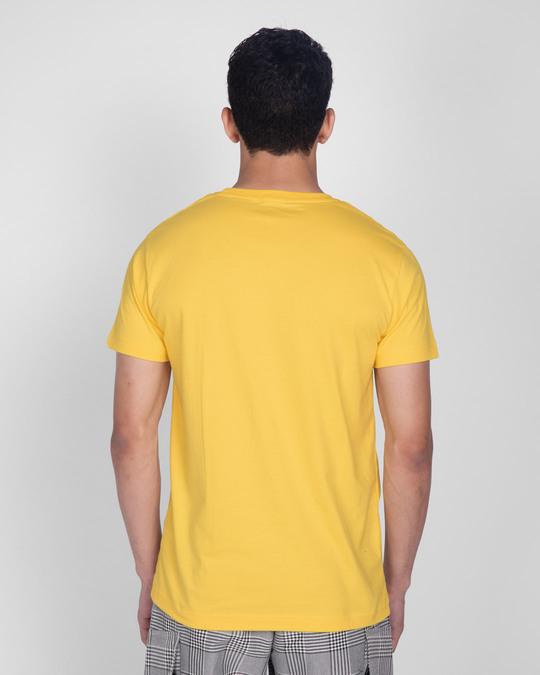 Shop Happy Yellow Half Sleeve T-Shirt-Full