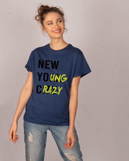 Shop New Young Crazy Boyfriend T-Shirt-Full