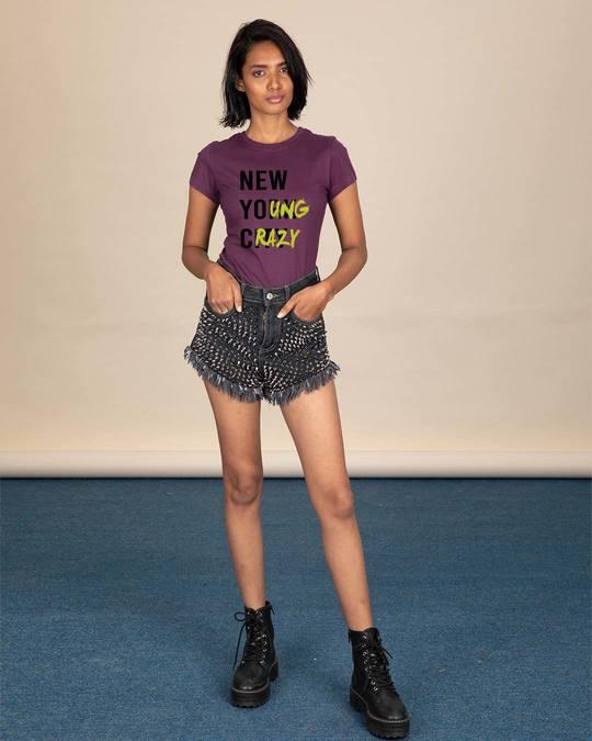 Shop New Young Crazy Half Sleeve T-Shirt-Design