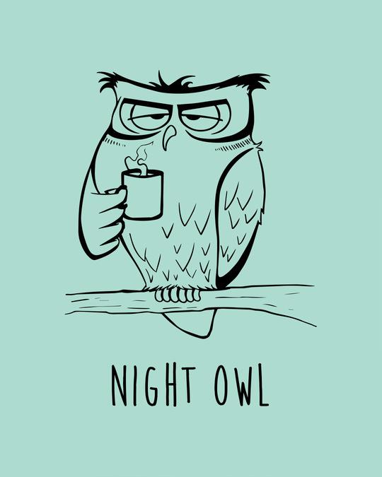 Shop Night Bird Half Sleeve T-Shirt
